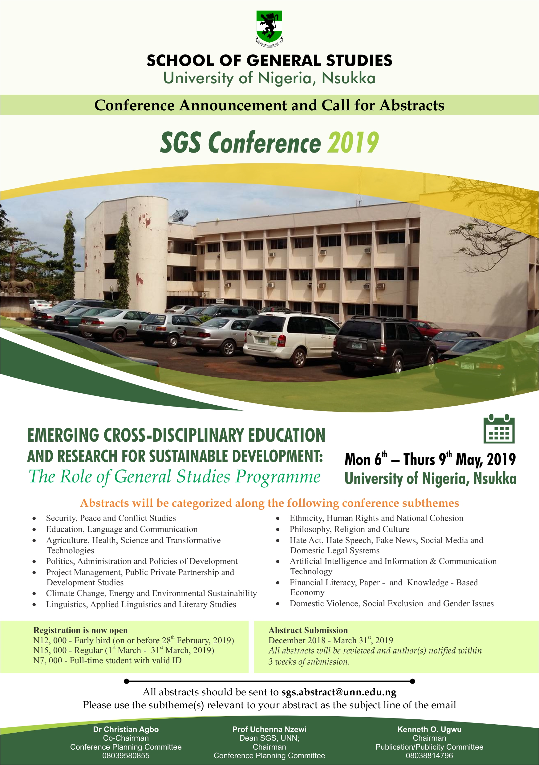 School Of General Studies (SGS) Conference 2019